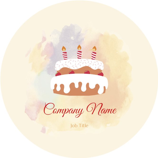 Cake Bakery Business Card Back thumbnail image