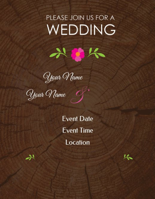 Wood Wedding Invitation