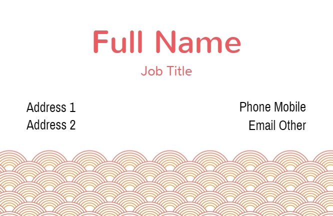 Circle Pattern Business Card