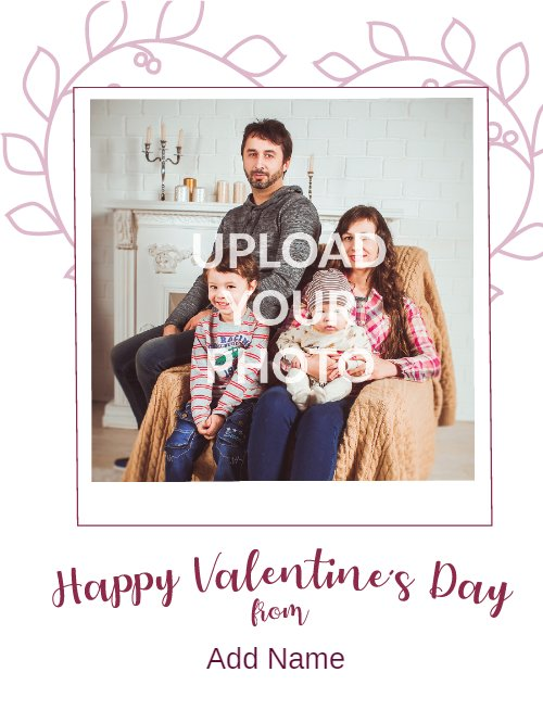 White Photo Frame Valentine's Cookie