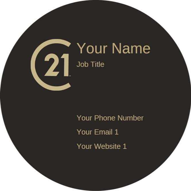 century 21 circle business card Back thumbnail image