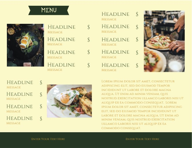 Restaurants Brochure Menu Back thumbnail image