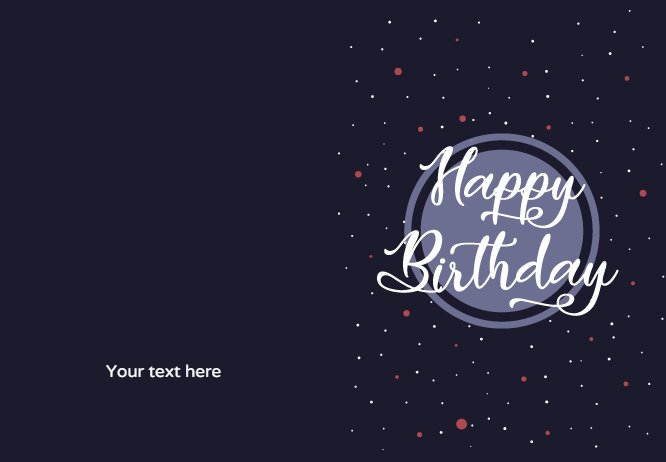 Space Birthday Greeting