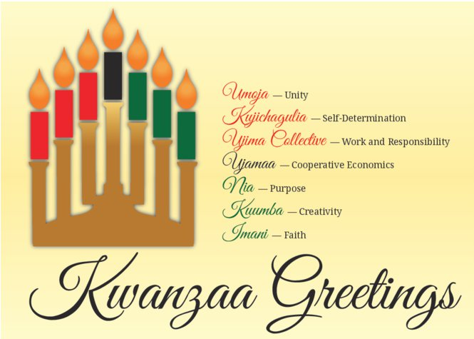 5 x 7 postcards templates illustration kwanzaa greetings kinara candles m4hsunfo