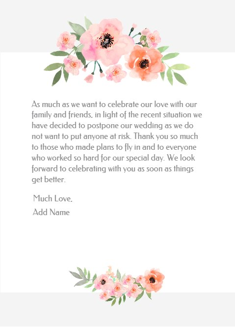 Wedding Cancelation