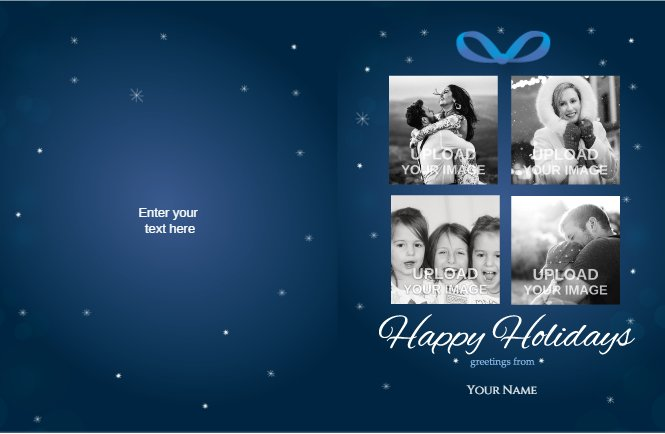 Blue Holidays Christmas Card