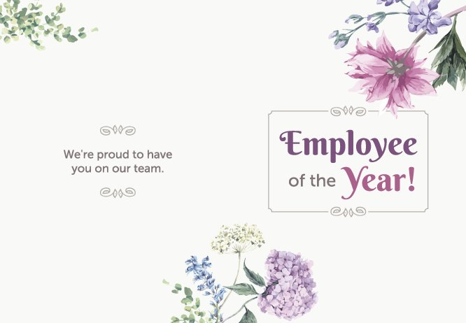 Employee of the year big