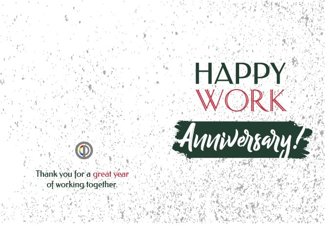 Happy work Anniversary green big