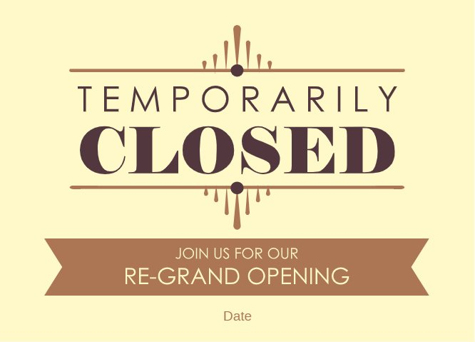 Temporarily closed yellow