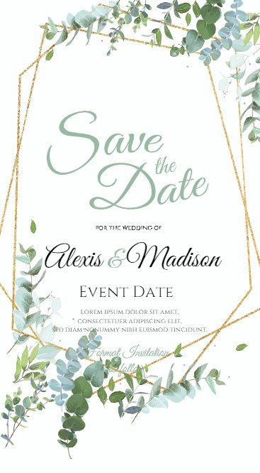 Save the date leaves