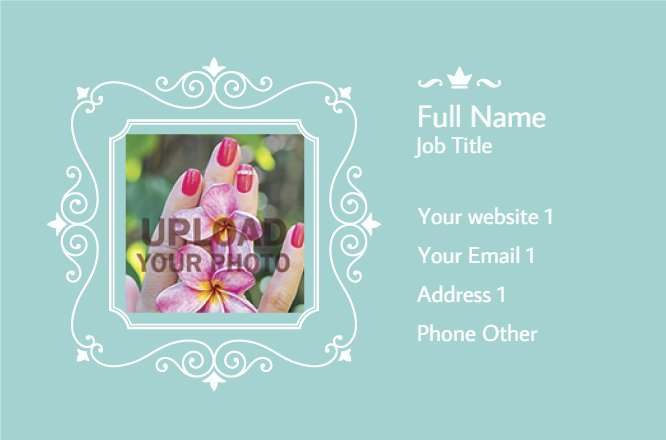 Blue nails company card Back thumbnail image