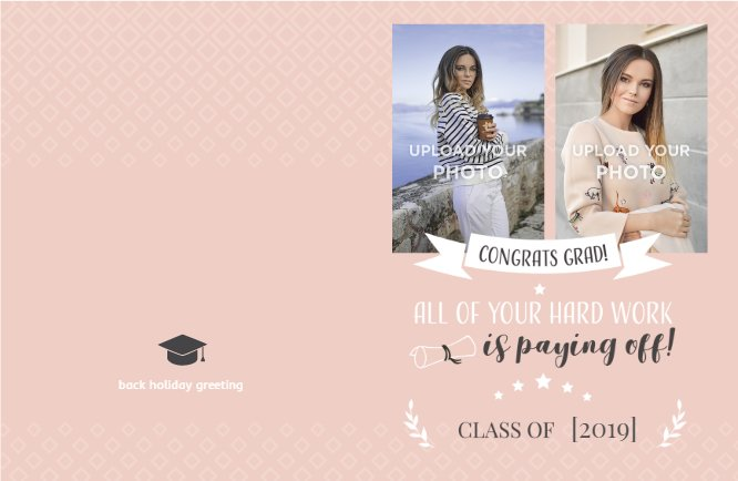 Pink grad greetings