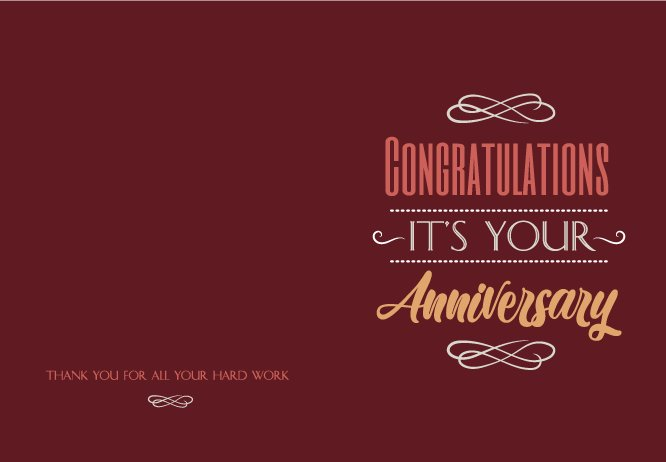 It's your red anniversary big card