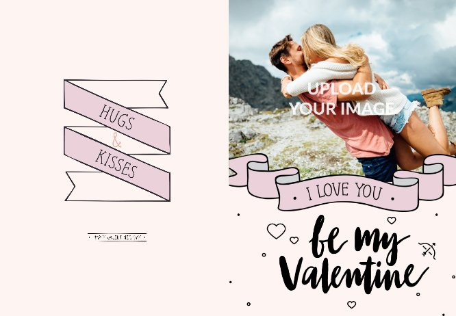 Be My Valentine Pink Personal Greeting Card