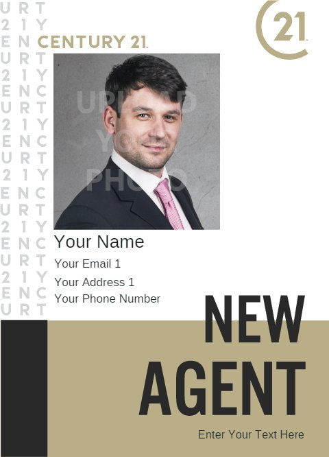 New Agent Flyer White Gold