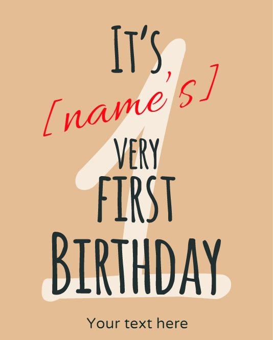 Very First Birthday Greeting
