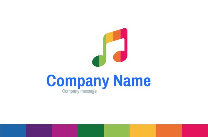 Colored Melody business card Back thumbnail image
