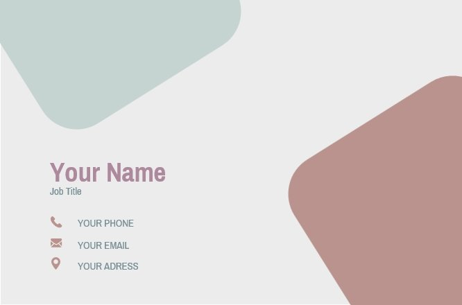 Pastel blocks business card