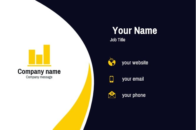 Yellow Diagram Business card