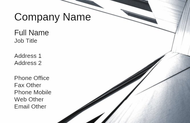 Grey Construction Business Card