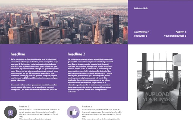 Business Brochure Violet Back thumbnail image